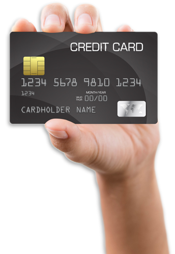 credit card hand